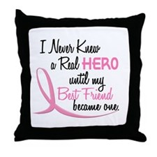 Never Knew A Hero 3 Best Friend BC Throw Pillow