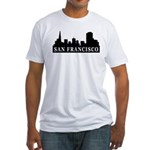 San Francisco Skyline Fitted T-Shirt