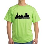 San Francisco Skyline Green T-Shirt