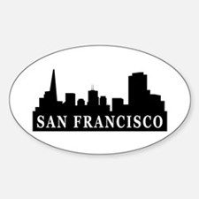 San Francisco Skyline Oval Decal