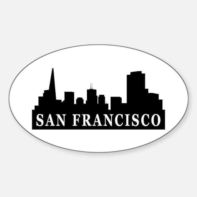 San Francisco Skyline Oval Decal