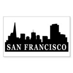 San Francisco Skyline Rectangle Sticker 10 pk)