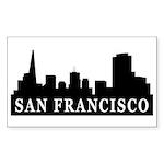San Francisco Skyline Rectangle Sticker 50 pk)