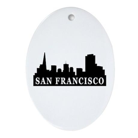 San Francisco Skyline Oval Ornament