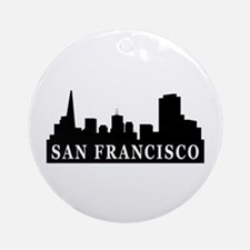 San Francisco Skyline Ornament (Round)