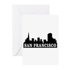 San Francisco Skyline Greeting Cards (Pk of 10)