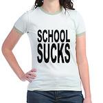 School Sucks Jr. Ringer T-Shirt