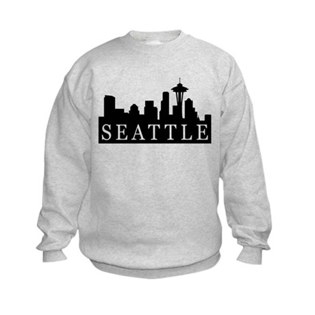 Seattle Skyline Kids Sweatshirt