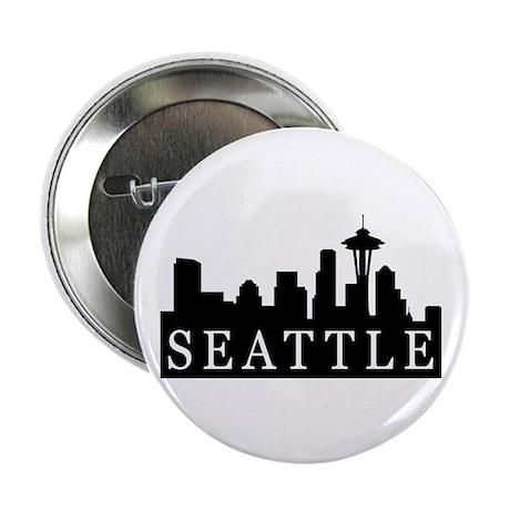 "Seattle Skyline 2.25"" Button (100 pack)"