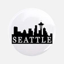 "Seattle Skyline 3.5"" Button"