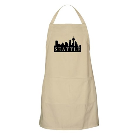 Seattle Skyline BBQ Apron