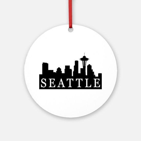 Seattle Skyline Ornament (Round)