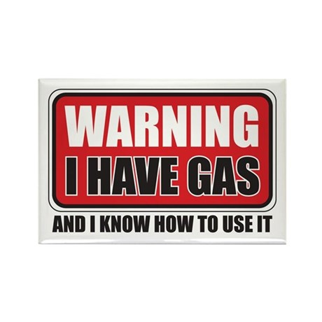 WARNING: I HAVE GAS Rectangle Magnet (10 pack)