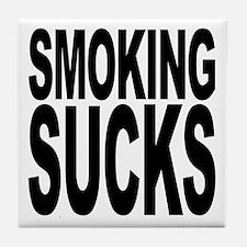 Smoking Sucks Tile Coaster