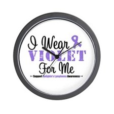 I Wear Violet For Me Wall Clock