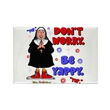 Don't Worry Be Yappy Rectangle Magnet