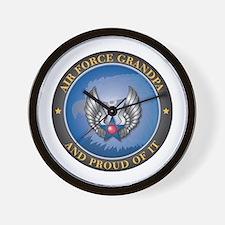 Air Force Grandpa Wall Clock
