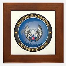 Air Force Grandpa Framed Tile