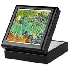 Van Gogh Irises Keepsake Box
