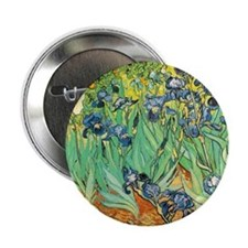 "Van Gogh Irises 2.25"" Button"