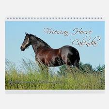 Friesian Horse 2015 Wall Calendar