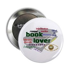 "Book Lover 2.25"" Button"