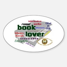 Book Lover Oval Decal