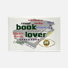 Book Lover Rectangle Magnet