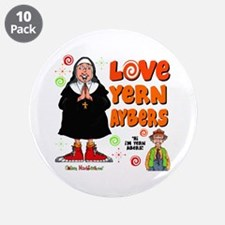 "Love Yern Aybers 3.5"" Button (10 pack)"