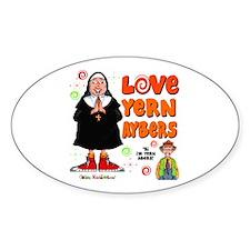 Love Yern Aybers Oval Sticker (10 pk)