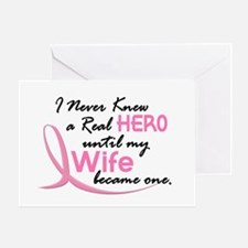 Never Knew A Hero 3 Wife BC Greeting Card