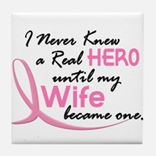 Never Knew A Hero 3 Wife BC Tile Coaster