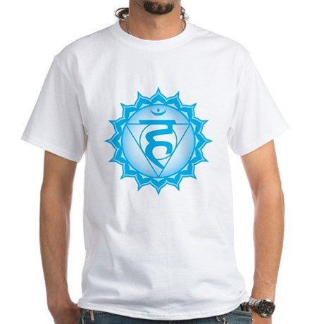 The throat chakra White T-Shirt