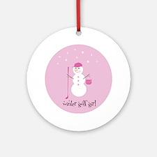 Winter Golf Girl - Ornament (Round)