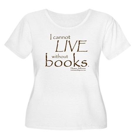 Without Books Women's Plus Size Scoop Neck T-Shirt