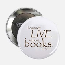 "Without Books 2.25"" Button"