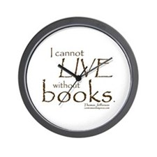 Without Books Wall Clock