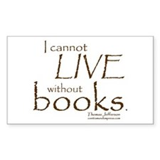 Without Books Rectangle Decal