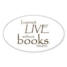 Without Books Oval Decal