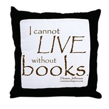 Without Books Throw Pillow