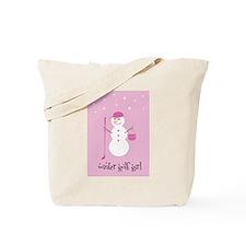Winter Golf Girl - Tote Bag