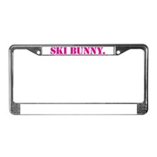 Ski Bunny License Plate Frame