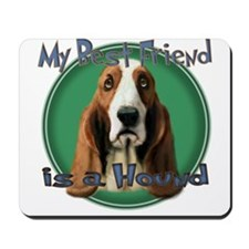 My Best Friend Basset Hound Mousepad