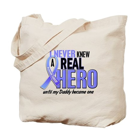 Never Knew A Hero 2 LT BLUE (Daddy) Tote Bag