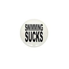 Swimming Sucks Mini Button