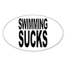 Swimming Sucks Oval Decal
