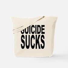 Suicide Sucks Tote Bag