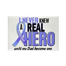 Never Knew A Hero 2 LT BLUE (Dad) Rectangle Magnet