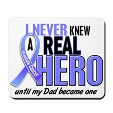 Never Knew A Hero 2 LT BLUE (Dad) Mousepad