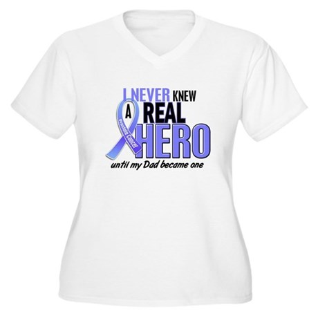 Never Knew A Hero 2 LT BLUE (Dad) Women's Plus Siz